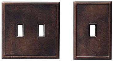 Hampton Bay Toggle Switch Screwless Wall Plate Oil Rubbed Bronze Double/Single 2 Bronze Double Switch Wall Plate