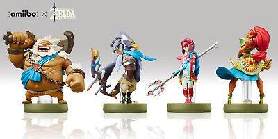 Zelda Breath Of The Wild Champions Ballad Amiibo   Mipha  Daruk  Revali  Urbosa