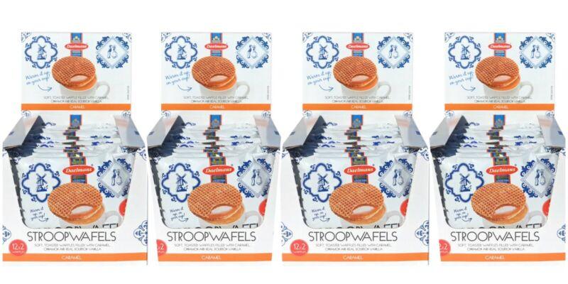 Daelmans Stroopwafels Caramel,48x2 Pack Duo-Pack 96 Waffles Exp 12/15/20