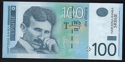 NIKOLA TESLA - SERBIA 2013 - PAPER MONEY - 100 DINARA - BANKNOTE - UNC