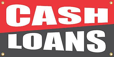 Cash Loans 2X4 Vinyl Retail Banner Sign