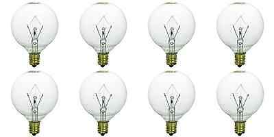 8-Pack Light Bulb for large Scentsy wax diffusers/tart warmers, 25 Watt 120 Volt