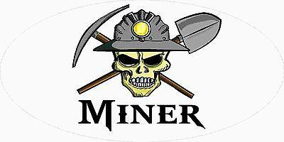 3 - Miner Skull Coal Wv Mining Tool Box Hard Hat Helmet Sticker Wv H406