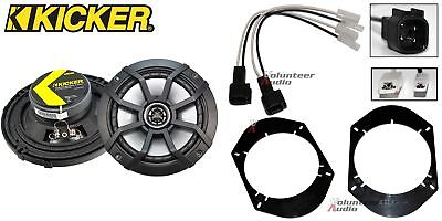 Kicker 43CSC654 6.5 Speakers + 1 Pair Front / Rear Adapters + Harness For
