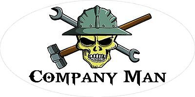 3 - Company Man Skull Oilfield Roughneck Hard Hat Helmet Sticker H324