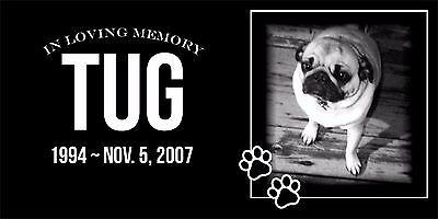 Personalized Pet Stone Memorial Grave Marker Granite Human plaque Dog Cat 55184