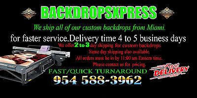 10X8 CUSTOM  PRINTED BACKDROP/BACKGROUND/BANNER - Custom Backdrop