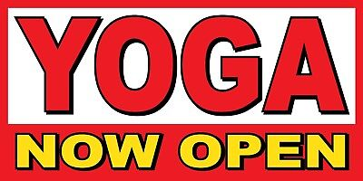 Yoga Now Open Banner Sign - Sizes 24 48 72 96 120