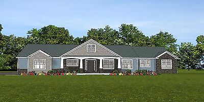 Tariff Home House Plan 2,470 SF Ranch w/Basement & 3 Car Garage Blueprint #1324