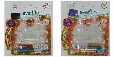- evenflo© ANATOMIC™ Winged Silicone Nipples BPA FREE 4 Pack Baby Bottle Nipple
