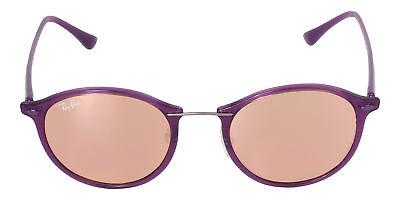 Ray Ban Unisex Purple Frame Copper Mirror Round Lens Sunglasses 4242 (Round Copper Framed Mirror)