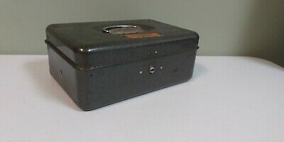 Vintage Union Steel Cash Box With Coin Tray Push Button - No Key