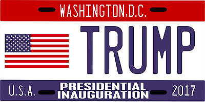 Donald Trump for President inauguration License plate