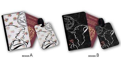 Die Schöne und das Biest Disney Love Paare Reisepass & Gepäck Etiketten ()