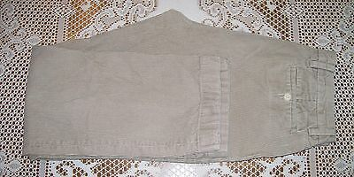 Nautica Corduroy Pant Men's sz 34 x 31 Khaki Beige Pleated 100% Cotton
