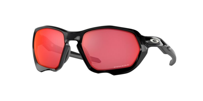NEW Oakley 9019 Oakley Plazma Sunglasses 901907 Black 100% AUTHENTIC