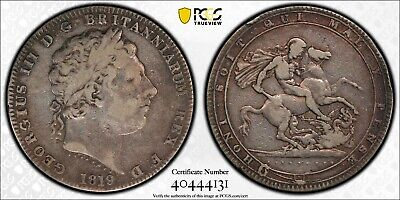 Silver 1819 England Great Britain Crown | George III S-3787 | PCGS VF20