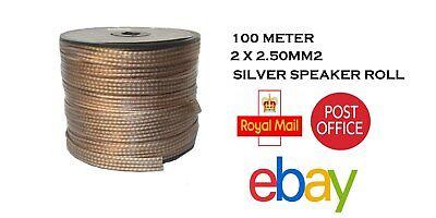 100m Roll-High Calidad Flexible Coche Hifi Audio Altavoz Cable 2X 2.50MM2