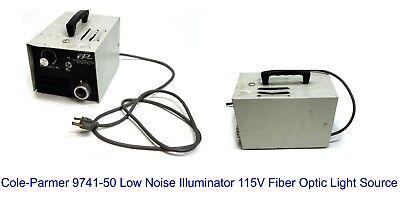 Cole-parmer 9741-50 Low Noise Illuminator 115v Fiber Optic Light Source
