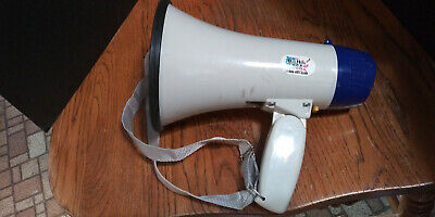 Megaphone Speaker Pa Bullhorn Built In Siren Adjustable Volume Control Cm-8wh