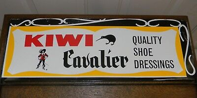 VINTAGE KIWI CAVALIER SHOE POLISH TIN STORE DISPLAY ADVERTISING SIGN VERY - Cavs Store