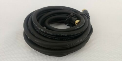 NEW Tv Coax & Power Cable Black 10 Ft Stairmaster Coaxial RG6