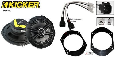 Kicker DSC650 6.5 Speakers + 1 Pair Front / Rear Adapters + Harness For