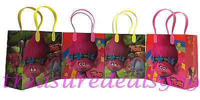 24 PCS TROLLS GOODIE BAGS PARTY FAVORS CANDY LOOT TREAT BIRTHDAY BAG DREAMWORKS (Party Candy Bags)