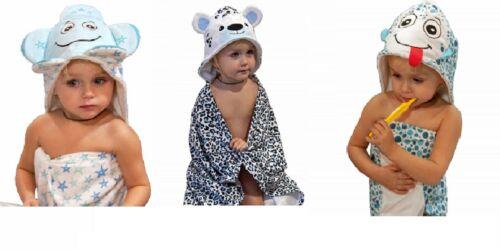 Hooded Toddler Kids Towel Set with Washcloth Highly Absorbent Microfiber CHOOSE