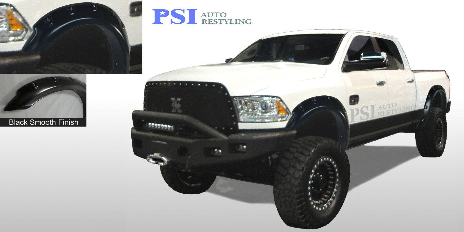 Black Paintable Pop Out Style Fender Flares 2010 2016
