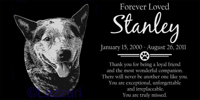 Personalized Australian Cattle Dog Red Blue Heeler Pet Memorial 12x6 Headstone