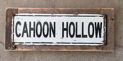 Cahoon Hollow Beach Wellfleet Cape Cod MA Vintage Metal Street Sign Home Decor
