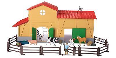 Bauernhof mit Pferdestall, Spieltiere 40-tlg Kinder Spielzeug Tiere Figuren