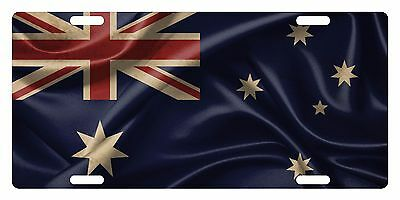 Australia Flag License Plate - AUSTRALIA Flag Custom License Plate Commonwealth Star Emblem Wave Version