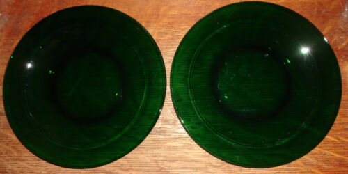 Anchor Hocking - Set of 2 Baltic Forest Green Salad Plates