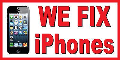 We Fix Iphones Repair Vinyl Banner Sign - Sizes 24 48 72 96 120 Phones