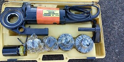 Portable Electric Power Plumber Pipe Threader With 4 Dies Plumbing Work Tools