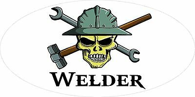 3 - Welder Skull Oilfield Roughneck Hard Hat Helmet Sticker H309