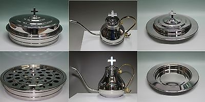Stainless Steel Communion Tray Set  Flagon  Juice Tray And Bread Tray