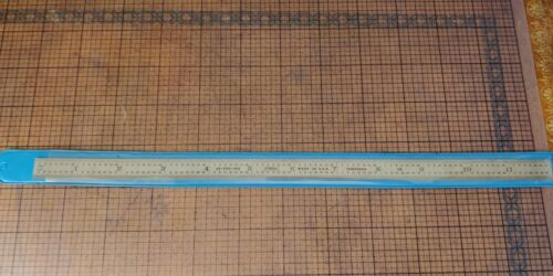 Fowler -- Tempered Steel Ruler - Model 52-300-012 -- New Old Stock -- Machinist