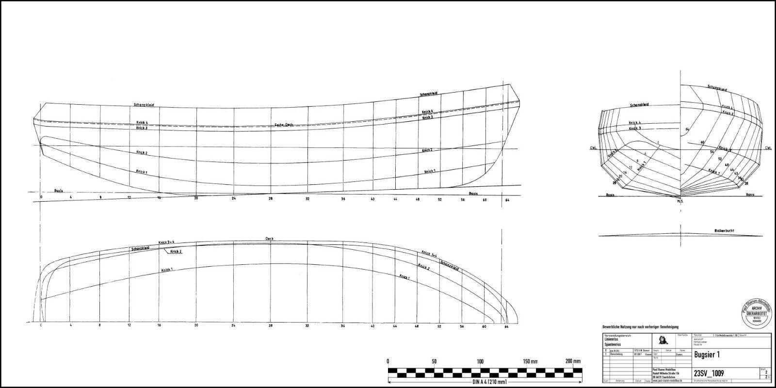 Schottelschlepper, BUGSIER 14 Bauplan M 1:25 1980