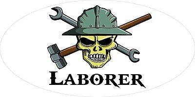 3 - Laborer Skull Oilfield Roughneck Hard Hat Helmet Sticker H325