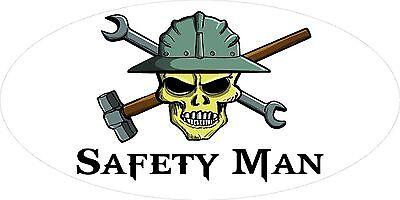 3 - Safety Man Skull Oilfield Roughneck Hard Hat Helmet Sticker H334