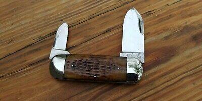 Antique Cattaraugus 22929 Elephant Toe - Gorgeous Bone Handled Knife!!!