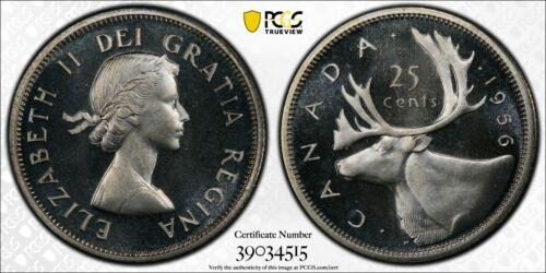 Silver 1956 Canada 25 Cents Quarter | PCGS PL67CAM TOP POP
