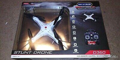 Syma Stop Drone D360 White 4 CH Remote Quadcopter 2.4 GHZ Radio Control