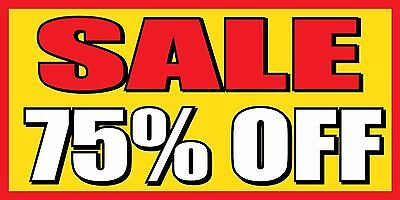 2x4 Sale 75 Off - Vinyl Banner Sign - Clearance Percent Everything Must Go