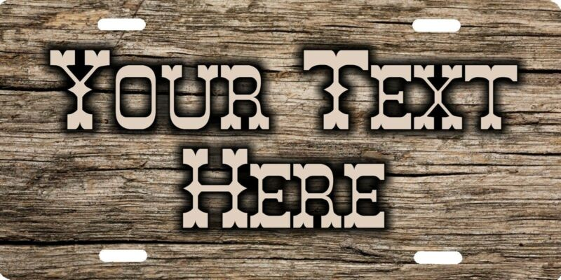 Personalized Custom Rustic Country Western Style Aluminum Metal License Plate