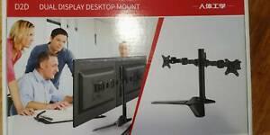 Loctek premium dual arm monitors   Two HP 20 inch monitors