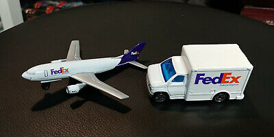 Matchbox FED EX Delivery Truck and Jet Plane airplane NEW LOOSE Diecast rare 292